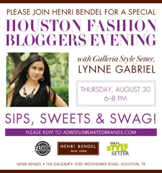 Henri Bendel's Blogging Event