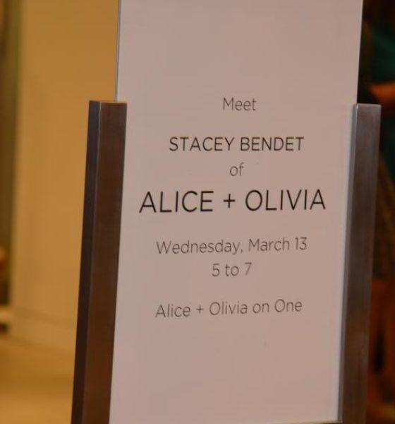 Stacey Bendet of alice + olivia Saks Event