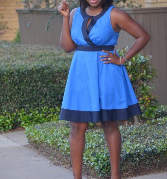 Spring eShakti Dress: Blue Riding Hood