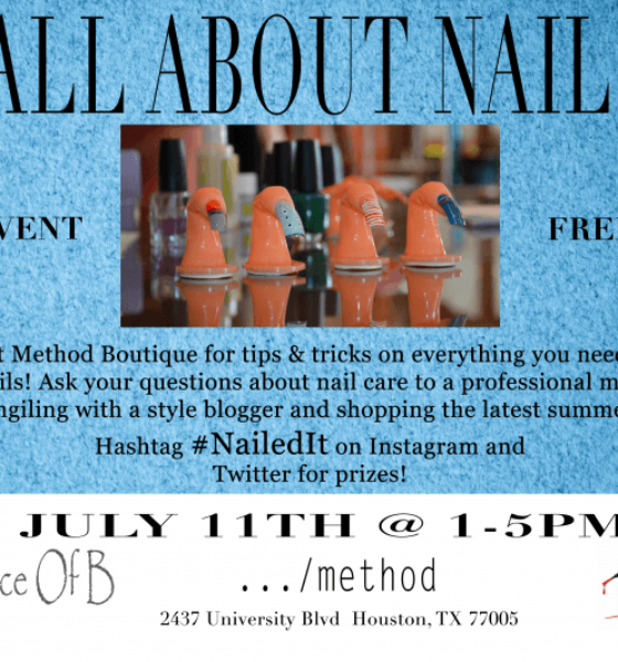 All About Nails Event at @MethodHouston Rice Village #Nailedit