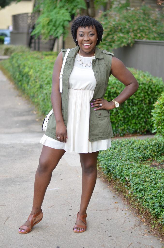 Black girl with natural short hair