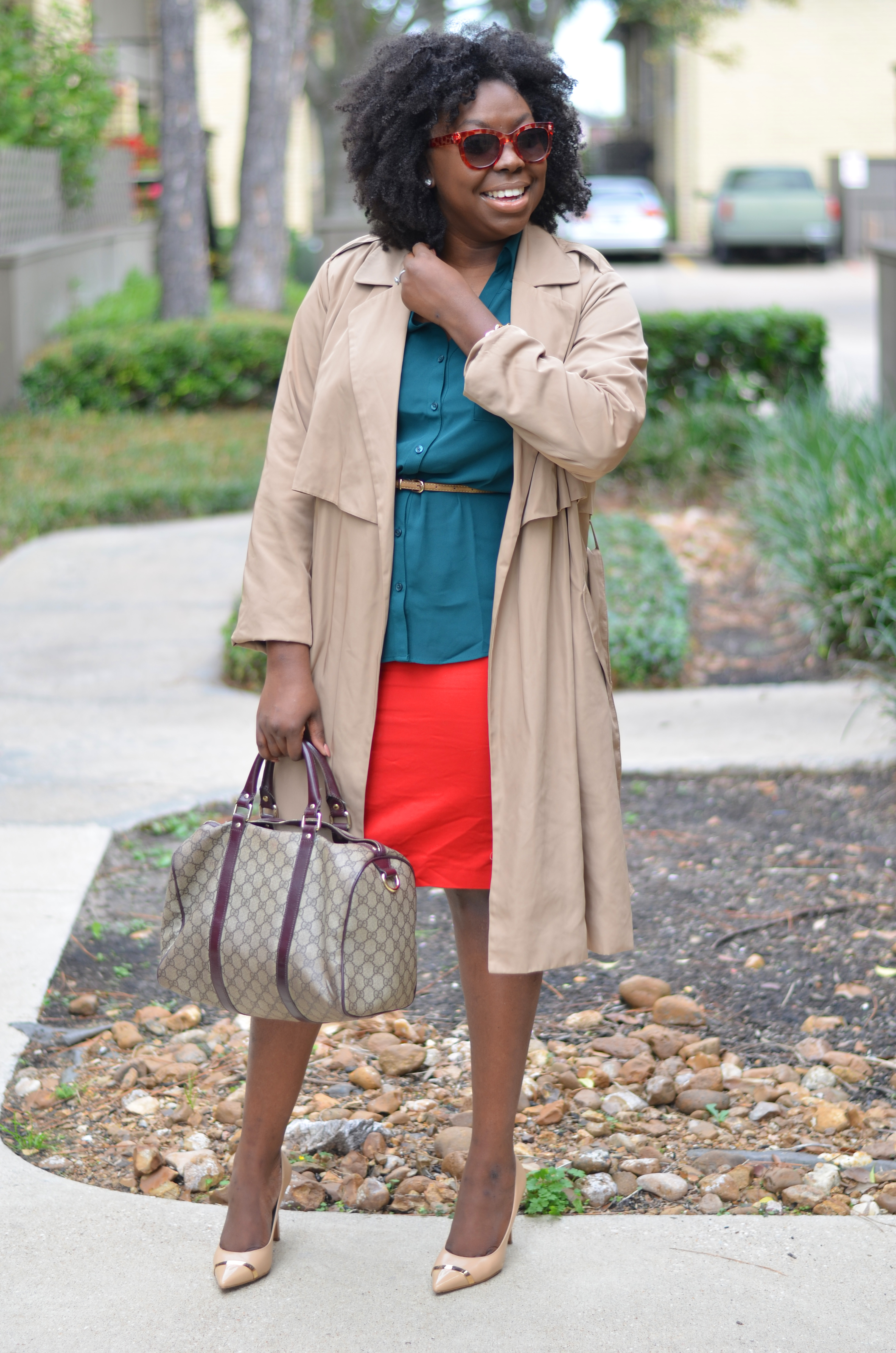 Christmas outfit 2014 Natural hair 2014
