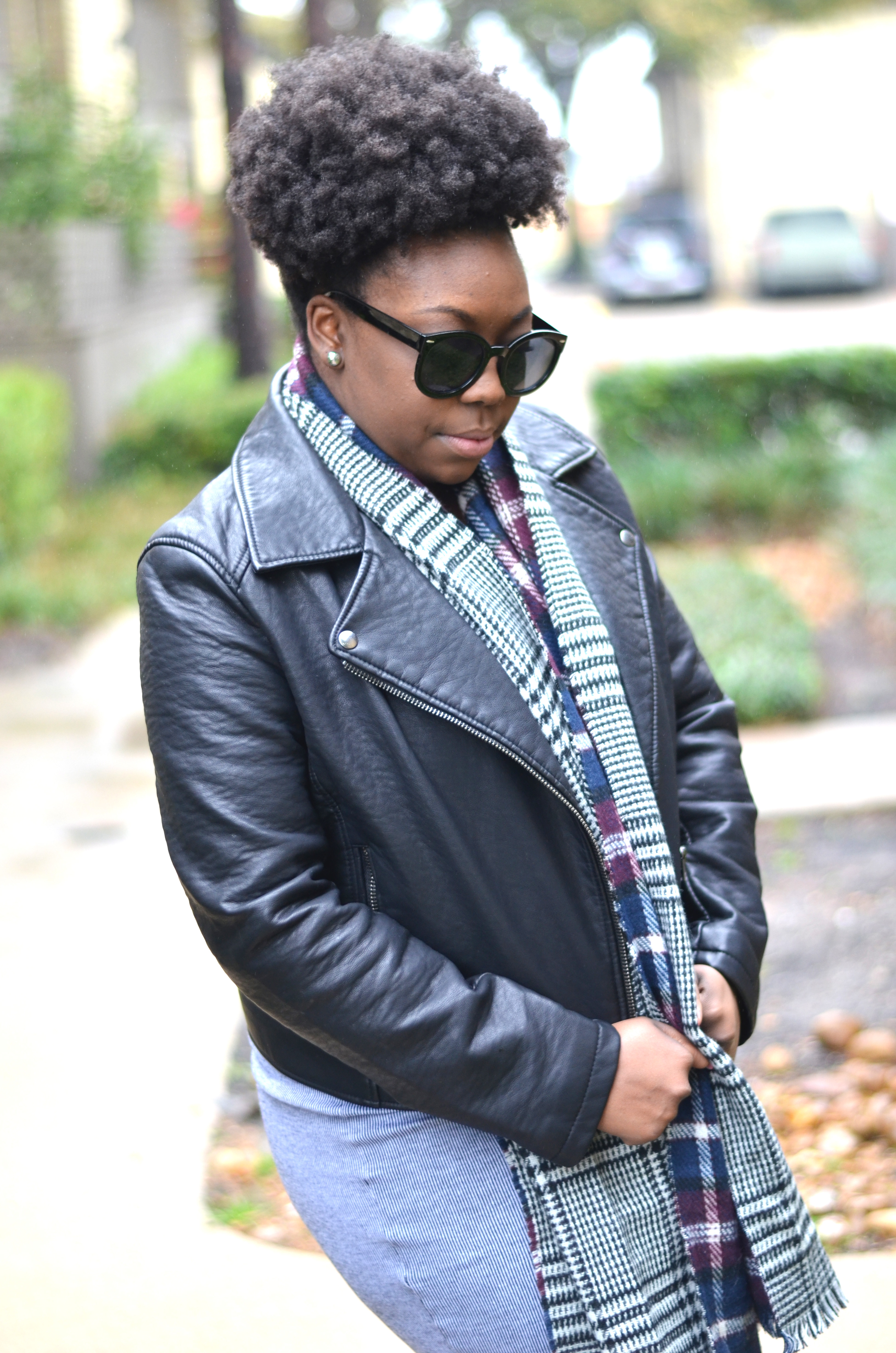Natural Hair Leather Jacket