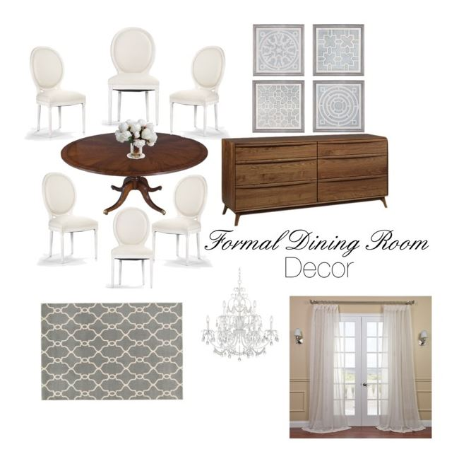 Neutral Decor for Formal Dining Room