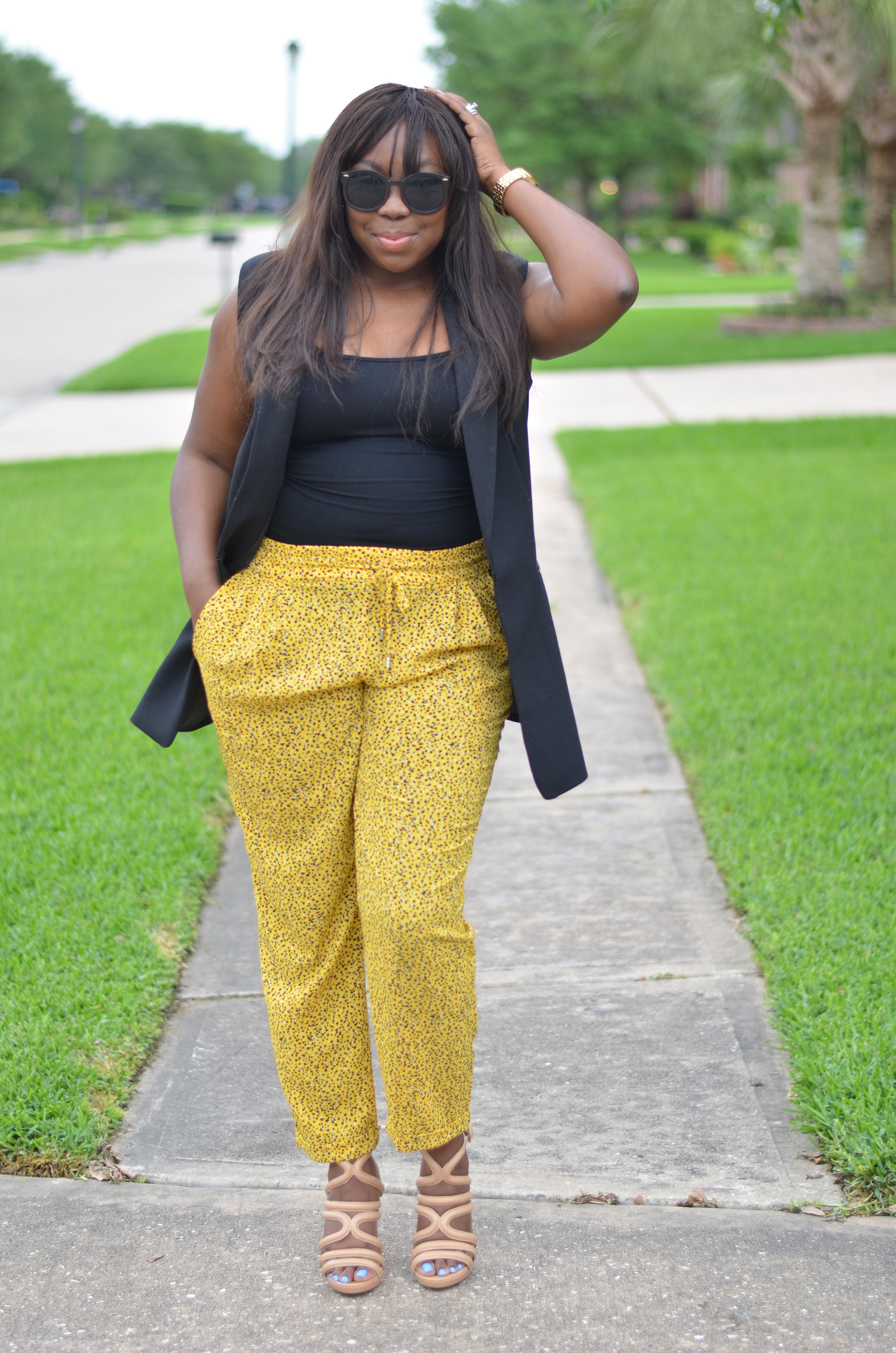 Spring Yellow Zara Pants