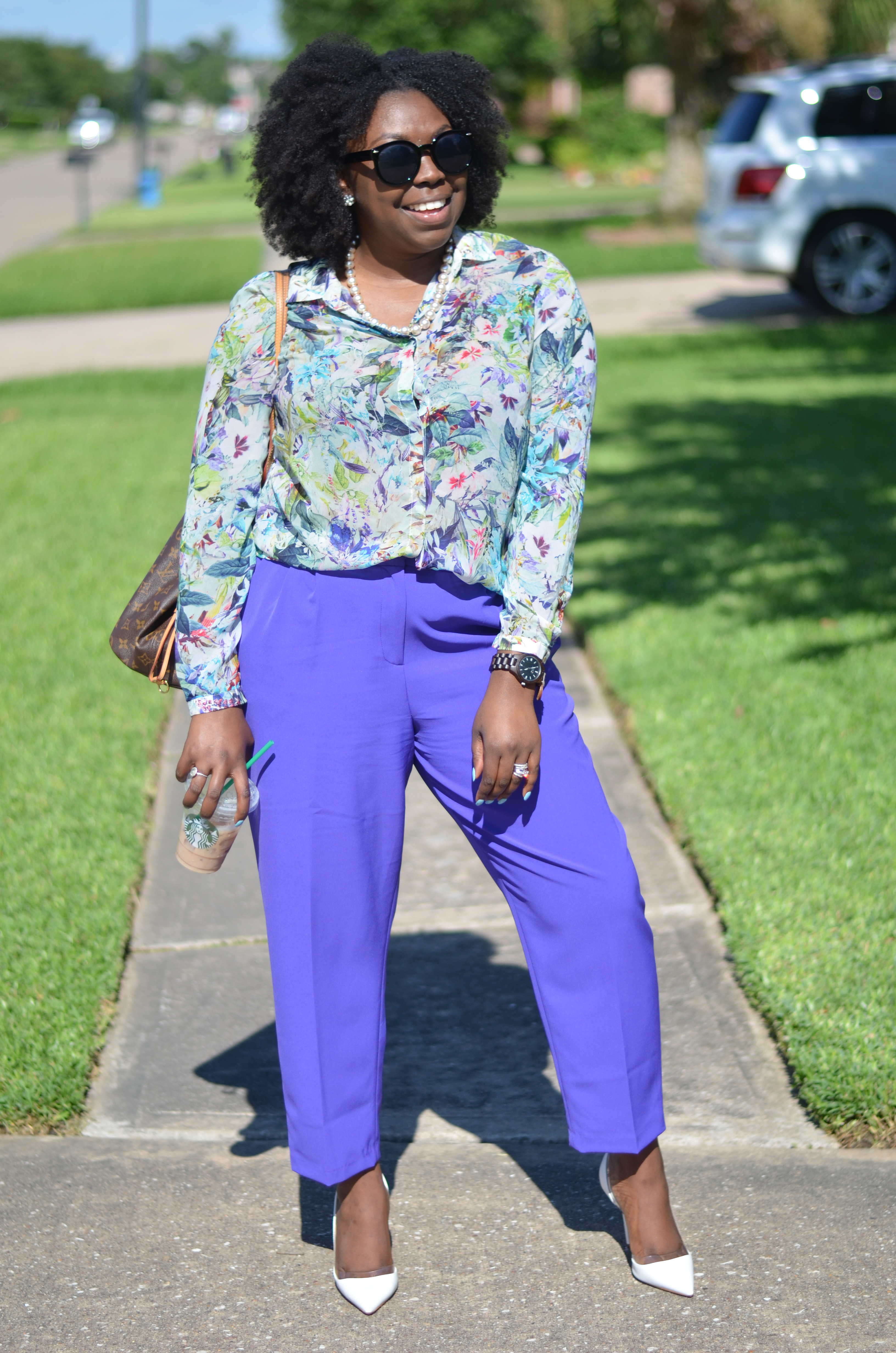 Afro and summer style