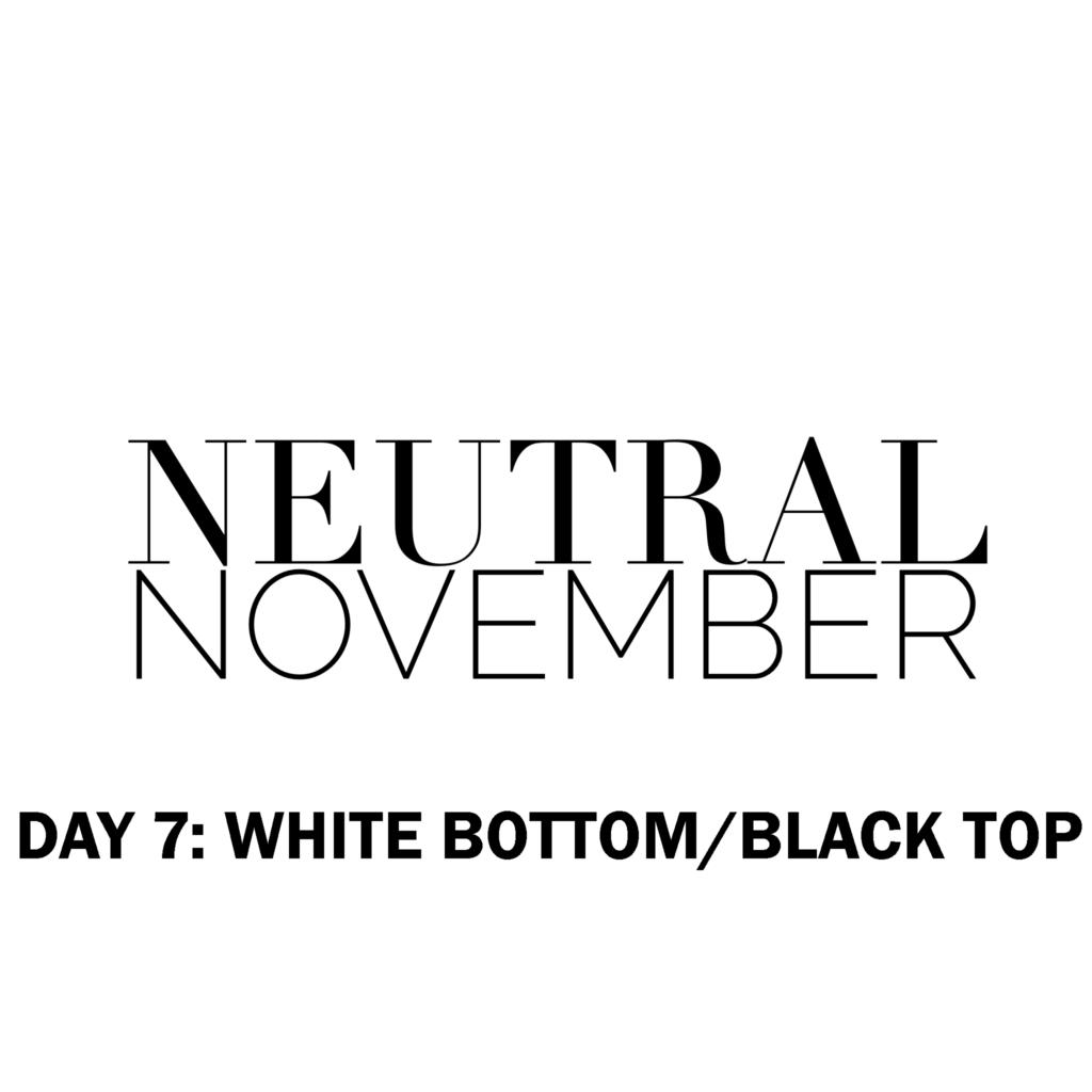 Neutral November White pants black top