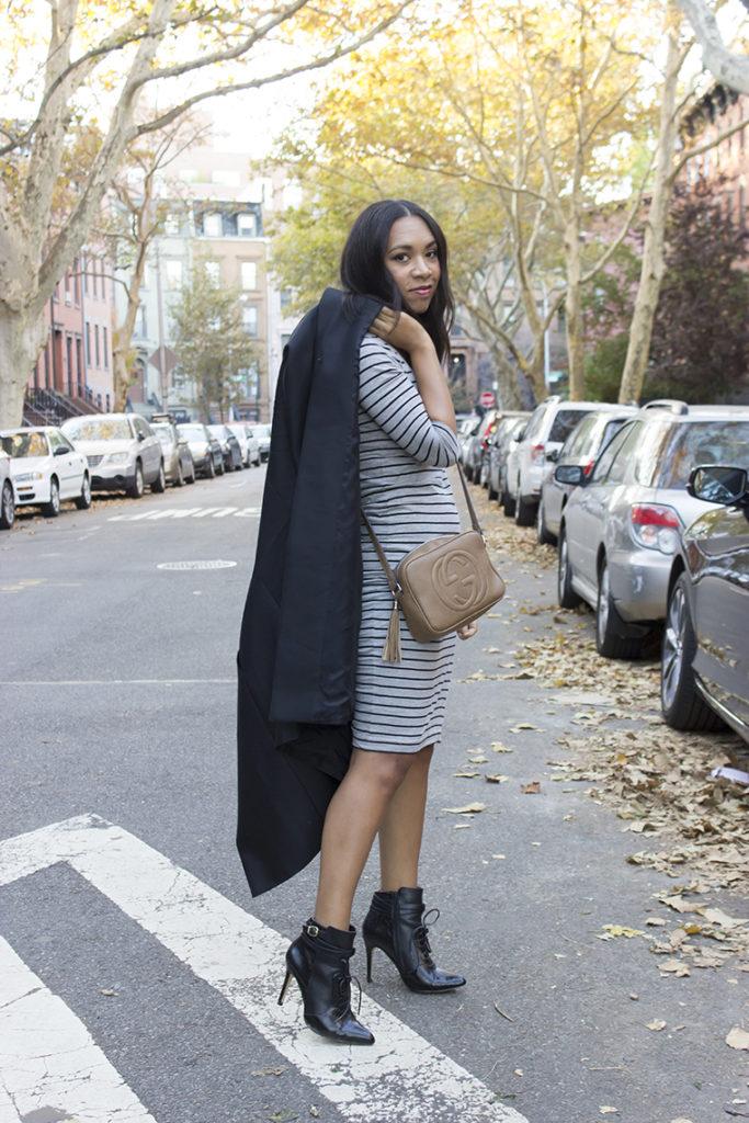 Striped Dress Jessica Neutral November