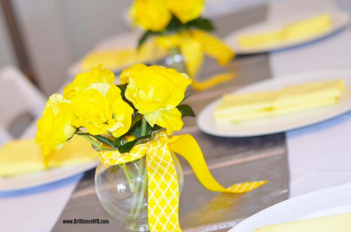 BabyShowerTableDecor Yellow